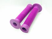 Грипсы ODI LONGNECK фиолетовые с пластиковыми грипстопами