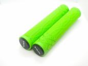 Грипсы для самоката VLX зеленый лайм 166 мм с пластиковыми барендами