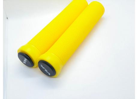 Грипсы VLX желтые 145 мм с пластиковыми барендами